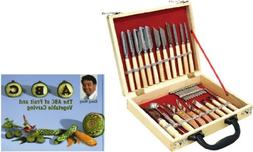 WIN-WARE Culinary Carving tool Set 22 Piece. Fruit/Vegetable