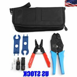 Wire Stripper Cutter Cable Crimper Crimping Tool Set For MC4