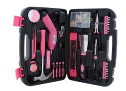Women  Household Tool Case Set Ladies Box Kit Home Repair To