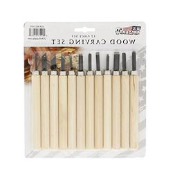 US Art Supply 12-piece Wood Carving Tool Set