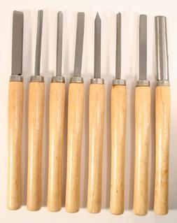 NEW 8 Piece Wood Chisel Woodworking Lathe Hand Tool Set
