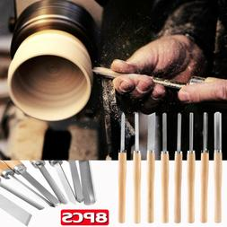 Biltek NEW 8pc Wood Lathe Chisel Set Turning Tools Woodworki