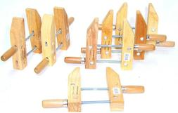 """6 pcs  7"""" wood working clamps tools wood handscrew  clamps s"""