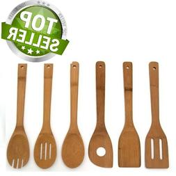 Wooden Cooking Utensil Set Kitchen Bamboo Spoons Spatula Too