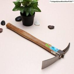 Kungfu Mall Wooden Handle Stainless Steel Garden Pickaxe Hoe