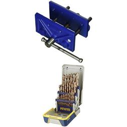 Irwin Woodworker's Vise and Metal Index Drill Bit Set