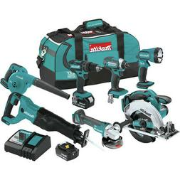 Makita XT706 18V LXT Lithium-Ion Cordless 7-Pc. Combo Kit XT