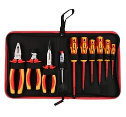RUWOO Z14010 10-Piece 1000V VDE Insulated Electrician's Tool